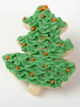 frosted christmas tree sugar cookies half dozen